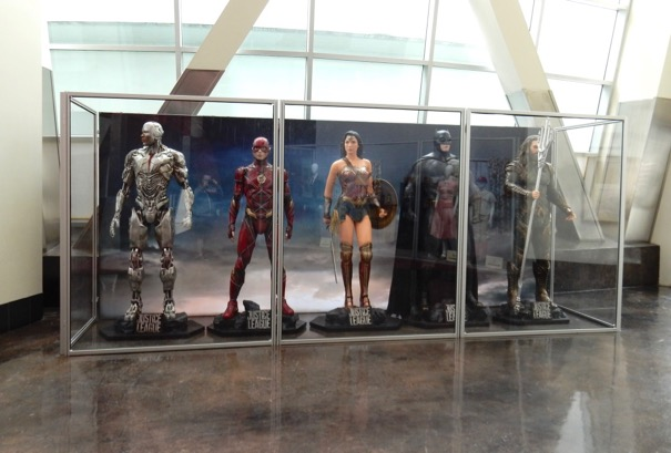 Justice League costume exhibit