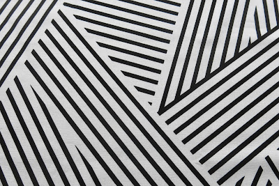 Manor Stripe print black on white designed by Victoria Findlay Wolfe