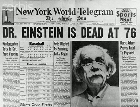 As últimas palavras de Einstein