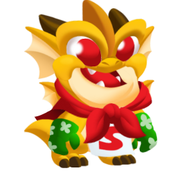 Appearance of Joke Dragon when baby