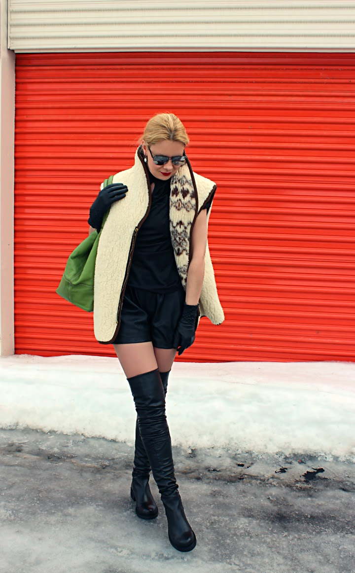 knee tall boots
