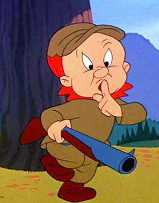 Elmer Fudd hunting kwickets!
