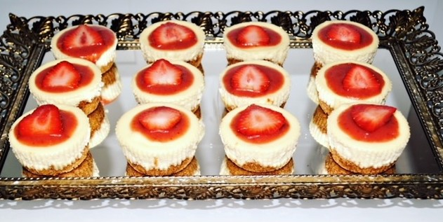 strawberry cheesecake, cheesecake recipe, mini strawberry cheesecake recipe