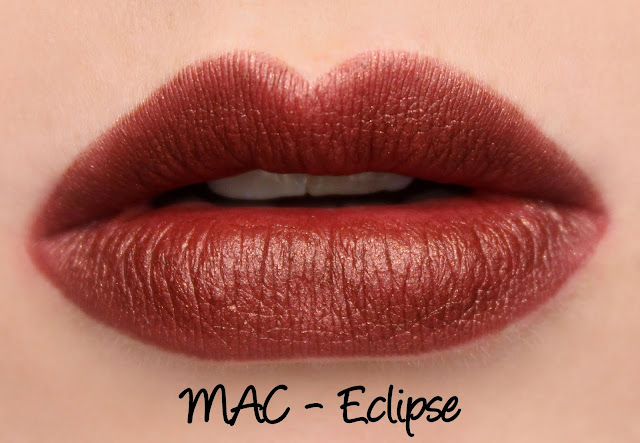 MAC MONDAY | Moonbathe - Eclipse Lipstick Swatches & Review