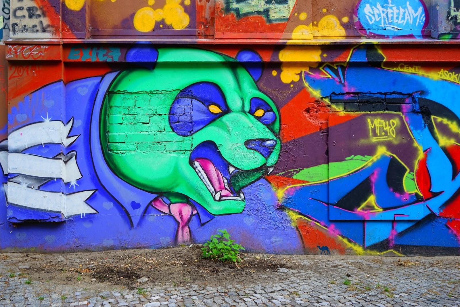 Le Chameau Bleu - Street Art - Angry Panda
