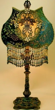 vintage lamp embrodery