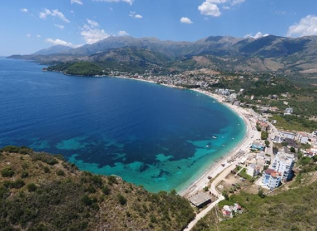 Himara beach by the air