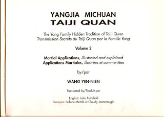 Yangjia Michuan Taiji Quan, par Wang Yen-Nien volume 1