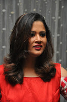 Shilpa Chakravarthy looks super cute in Red Frock style Dress 027.JPG