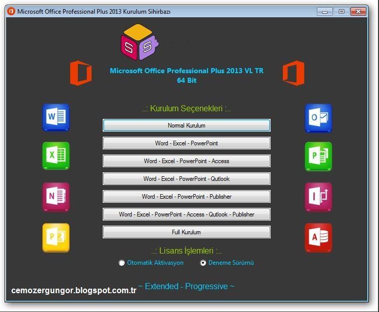 Microsof Office 2013 Pro VL Türkçe 32x64Bit Şubat 2016 Full Tek Link İndir