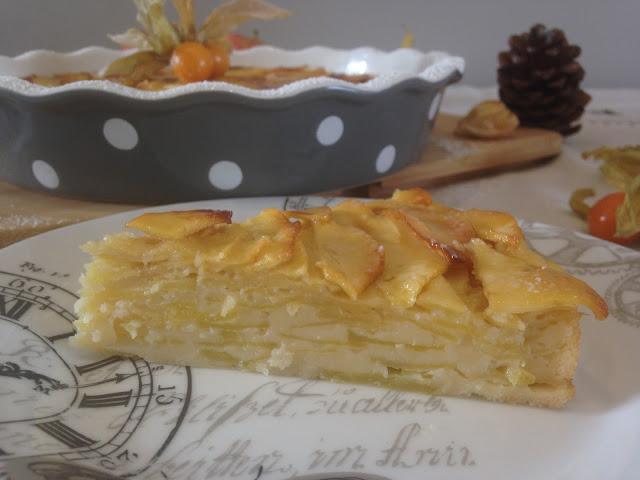 pastel invisible de manzana