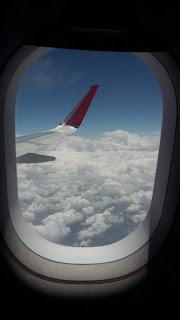 Výhľad z okna lietadla
