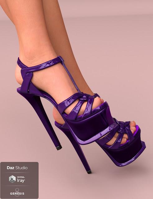 Elin Sandals for Genesis 8 Female