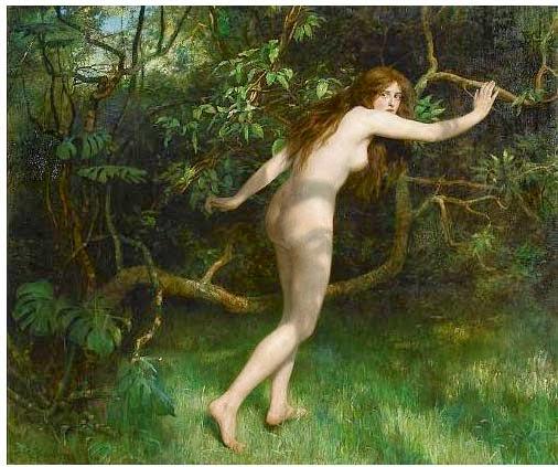 Eva - Jhon Collier e suas pinturas belíssismas | Neoclassicismo