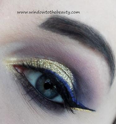 złoto fioletowy makijaż