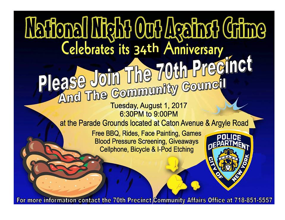 Friday August 1st Free Community >> Karmabrooklyn Blog 70th Precinct National Night Out Against Crime