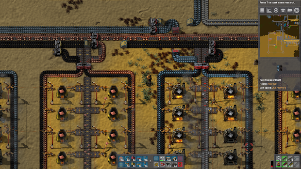 Factorio Steel Smelting Blueprint - Year of Clean Water