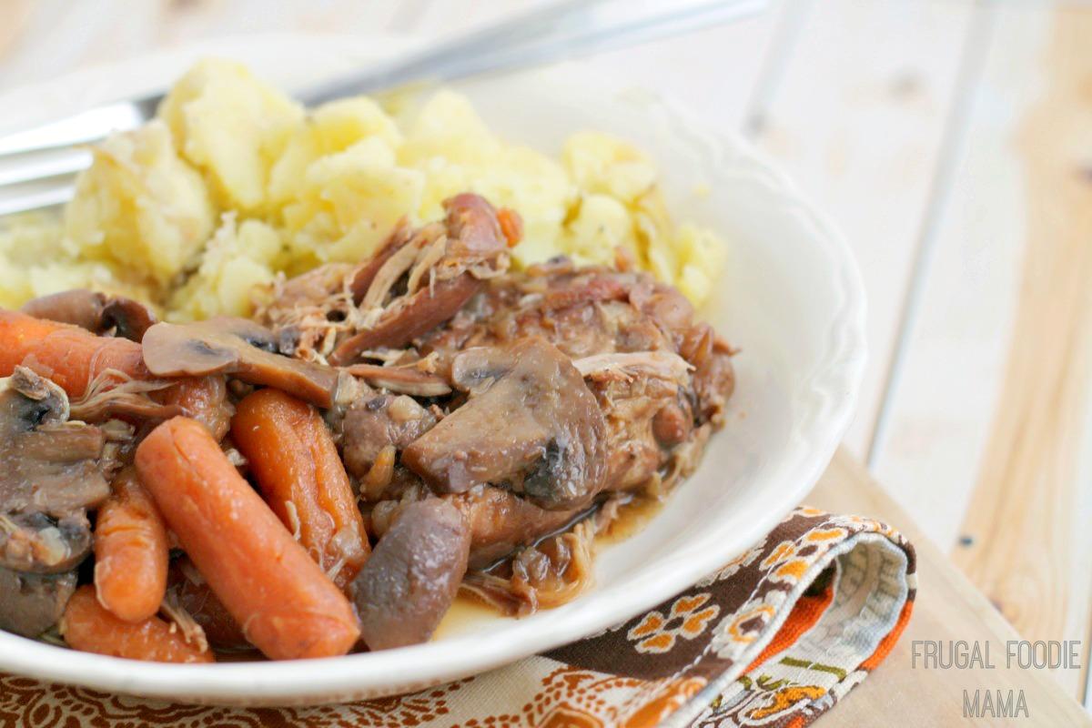 67030635f518 Frugal Foodie Mama  Slow Cooker Coq au Vin
