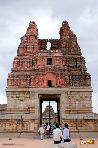 Main east Gopura of Vitthala temple courtyard, Hampi, Karnataka