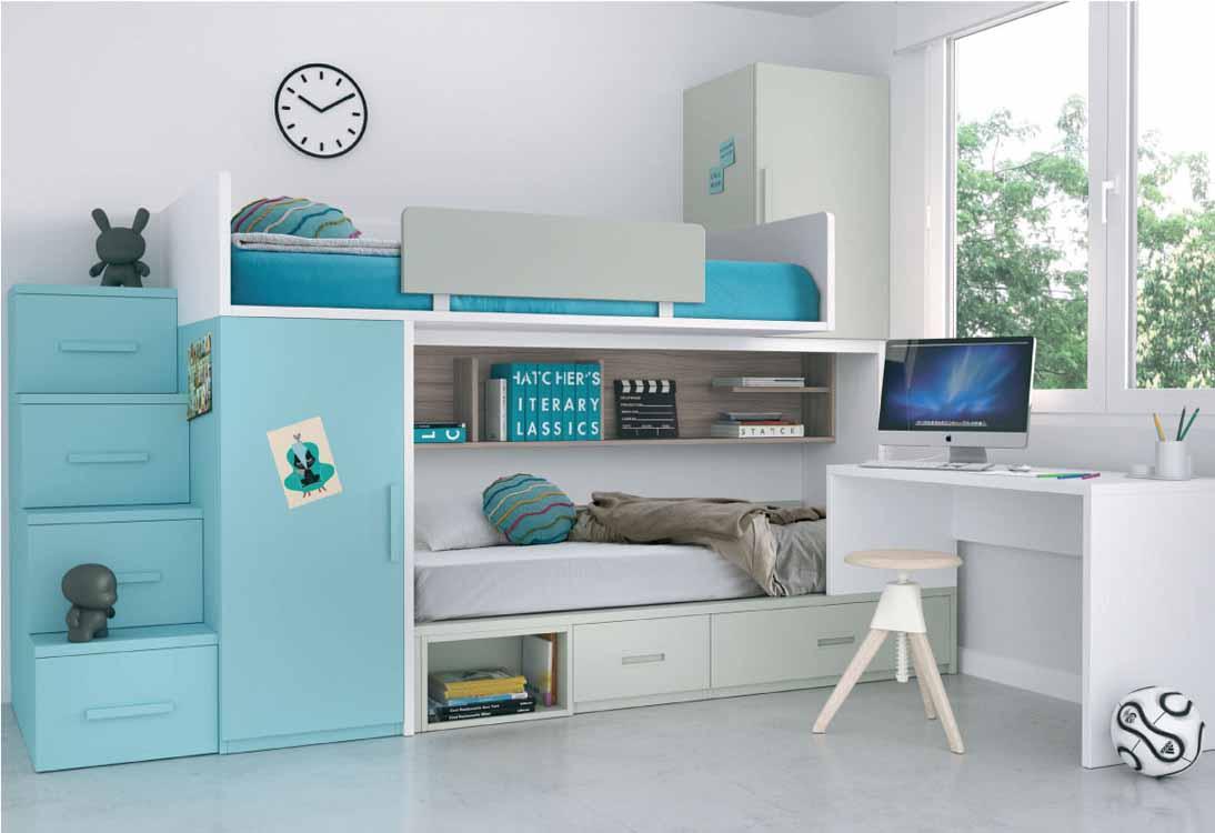 C mo decorar habitaciones peque as revista tendenciadeco - Muebles para habitaciones pequenas juveniles ...