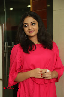 Actress Arundathi Nair Stills in Red Chididar at Bethaludu Success Meet  0007.JPG