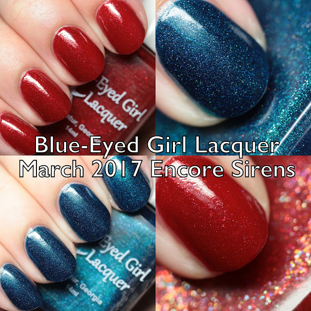 Blue-Eyed Girl Lacquer March 2017 Encore Sirens