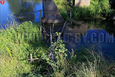Польская плотина на реке Щара (Szczara) в Цыгани. Руины