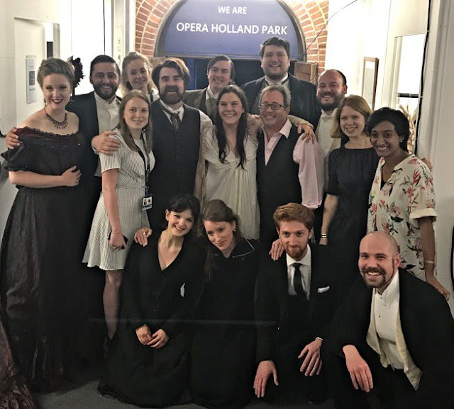Opera Holland Park's director of opera, James Clutton with the 2018 Young Artists (Photo Opera Holland Park)