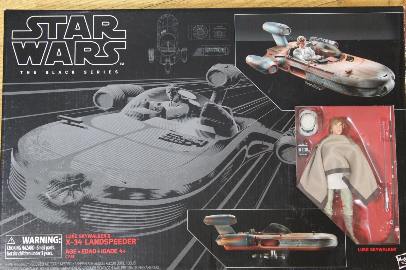 Child Sized Coffin Star Wars The Black Series X 34 Landspeeder And Luke Skywalker