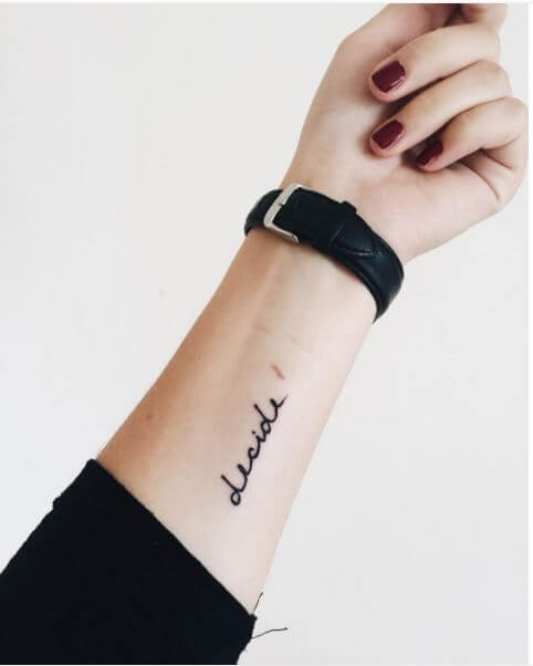 100 Inspirational And Meaningful One Word Tattoos 2018