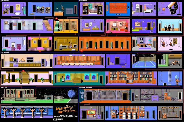 Mapa Maniac Mansion
