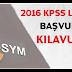 2016 KPSS lisans başvuru kılavuzu açıklandı