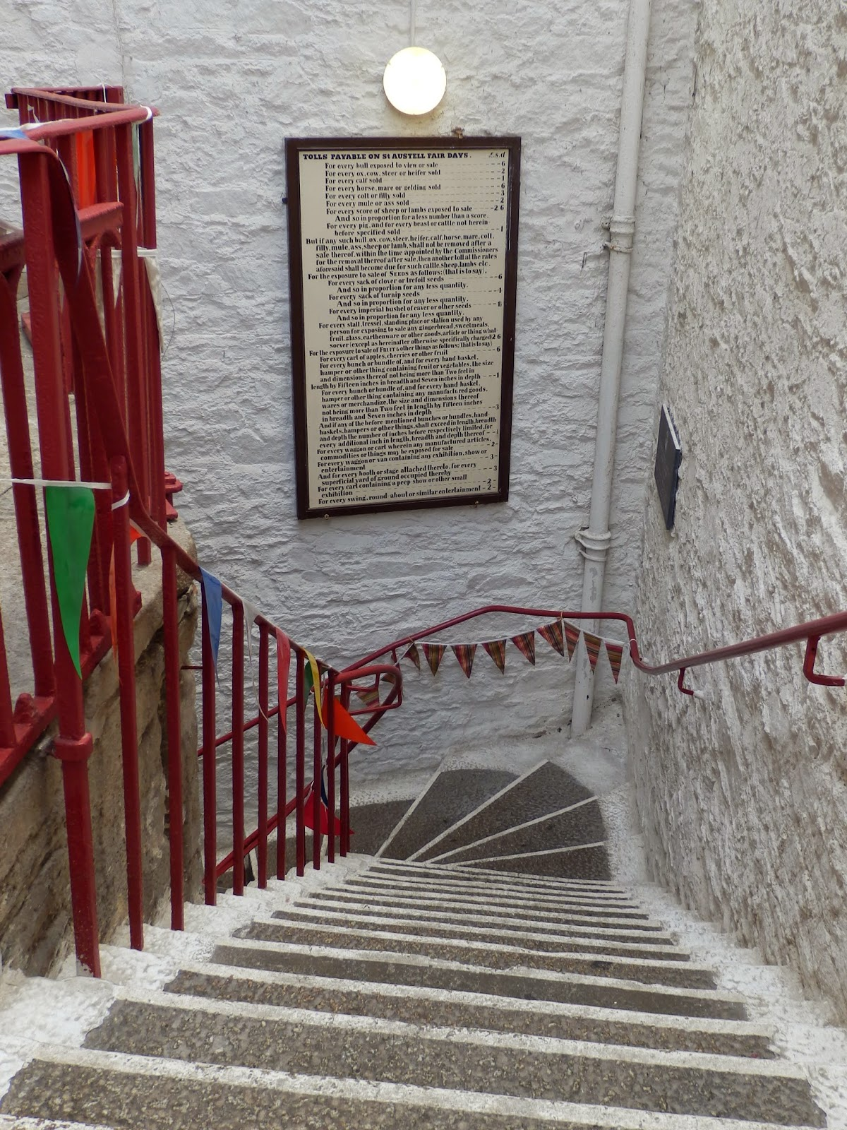 Stairs Old Market House Cornwall