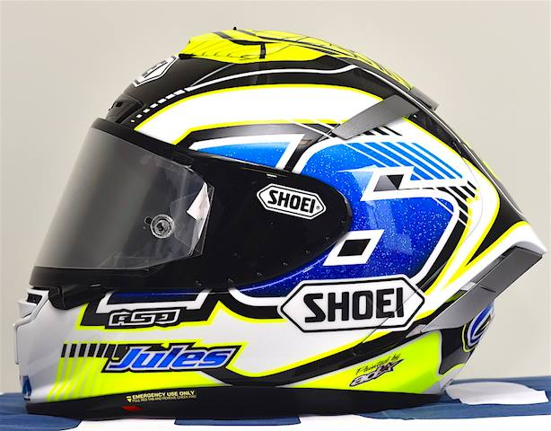 racing helmets garage shoei x spirit iii j cluzel 2016 by asd painted by aerodiffusion. Black Bedroom Furniture Sets. Home Design Ideas