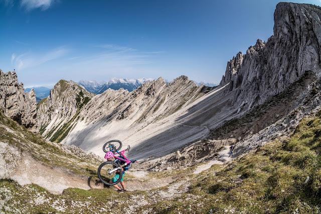 Fordernde Runde Bikebergsteigen Mountainbike MTB Reither Spitze