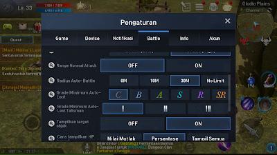 Cara Pengaturan Drop Looting dan Jarak Monster di Lineage 2 Revolution Indonesia