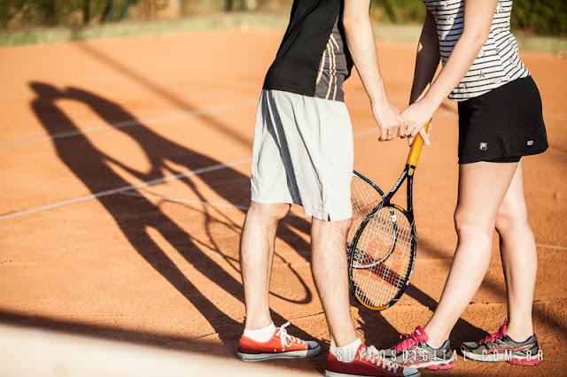 ensaio casal quadra de tenis