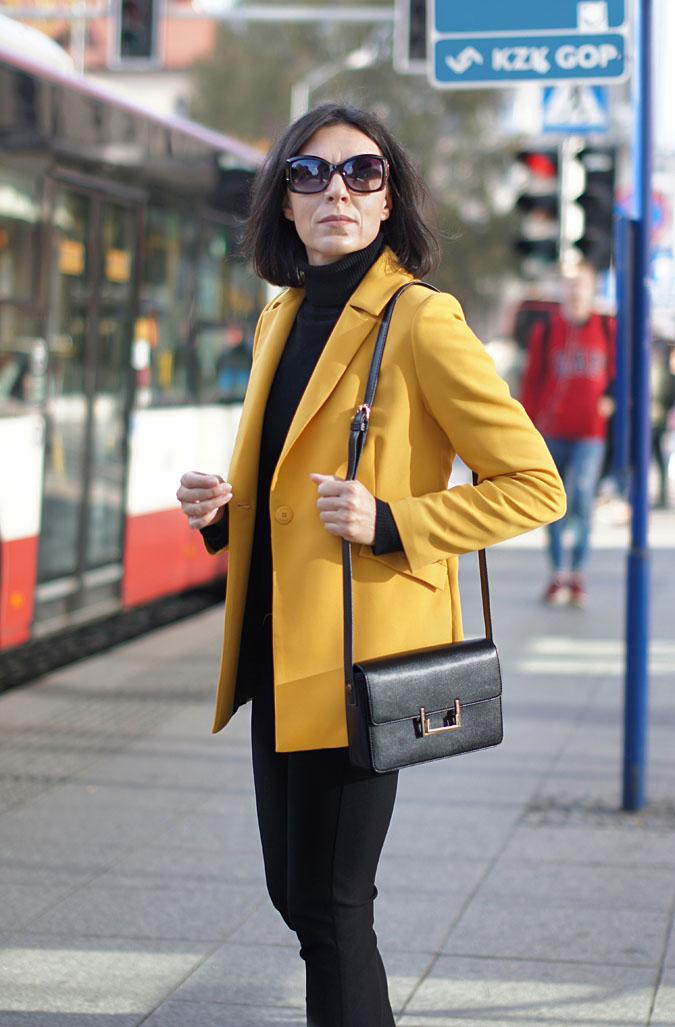 żółty modny żakiet 2019