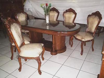 meja makan salina 6 kursi