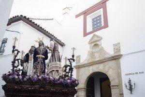 La banda de Coronación en el Regreso del Vía Crucis de Hermandades de Córdoba