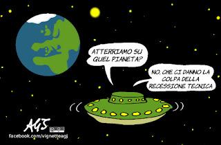 recessione tecnica, economia, responsabilità, governo del cambiamento, vignetta, satira