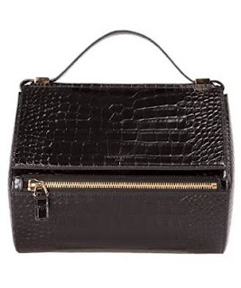Givenchy Croc Embossed Leather Medium Pandora Box Handbag