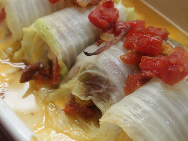 Look ma, no flies! (Crock Pot Shredded Italian Beef Cabbage Rolls)