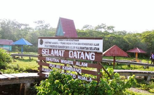 sungai barito tempat wisata yang satu ini menjadi salah habitat monyet dan beberapa jenis burung menurut warga di pulau juga terdapat berbagai