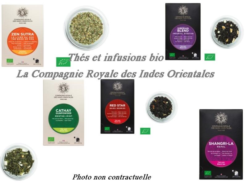 #Concours : Thés et infusions bio La Compagnie Royale des Indes Orientales avec Cicirena