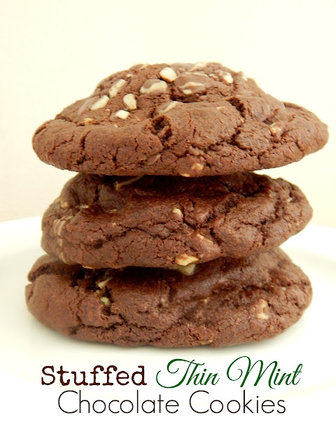 stuffed thin mint chocolate cookies (sweetandsavoryfood.com)
