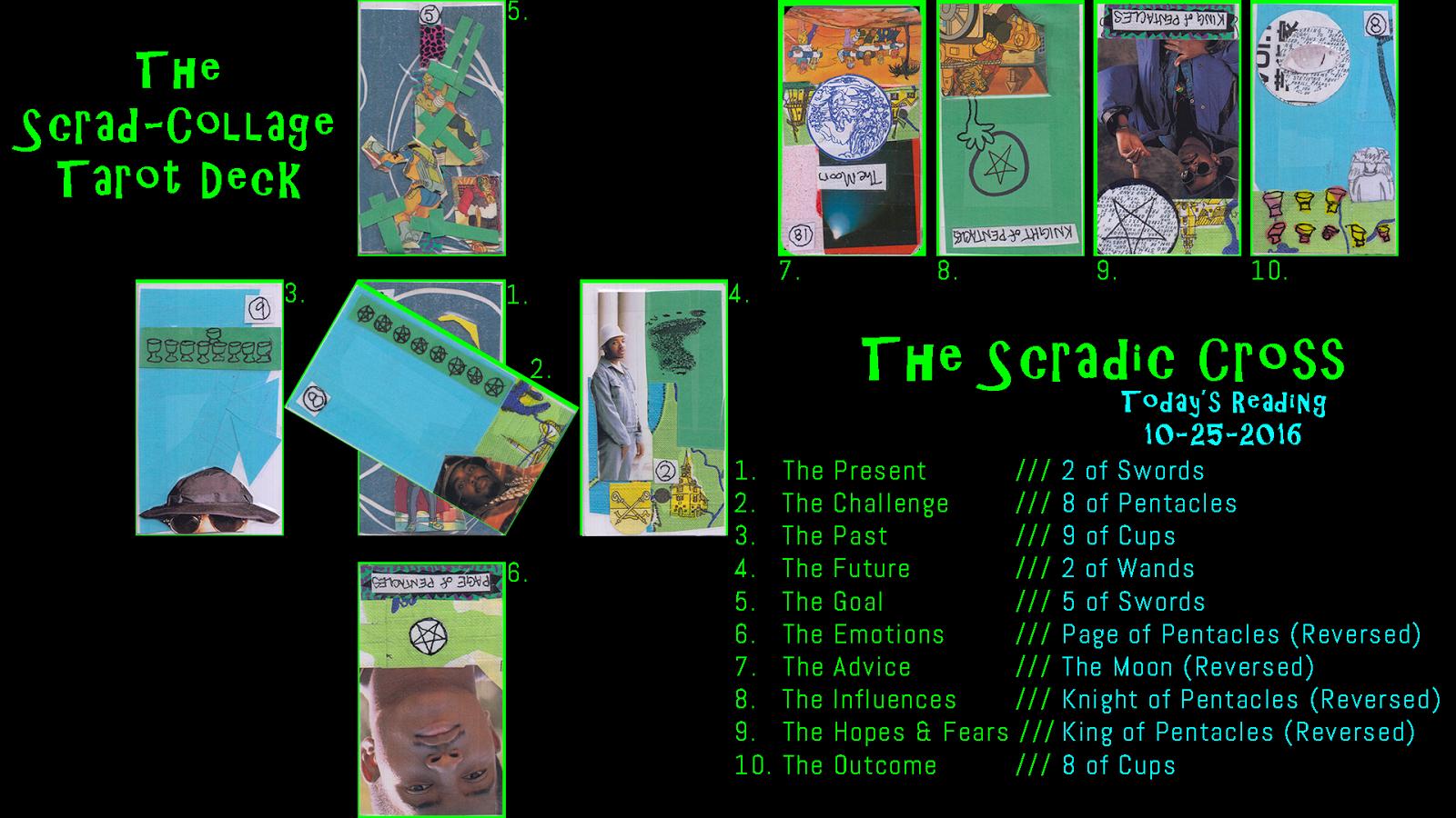The Scrad-Collage Tarot Deck: October 2016