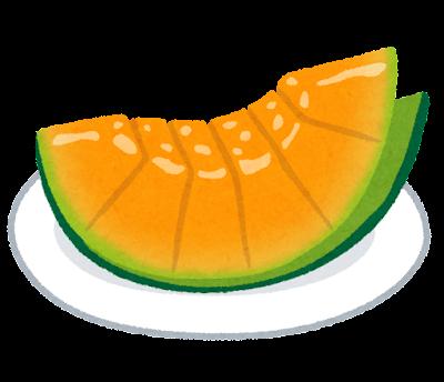 カットメロンのイラスト(オレンジ)