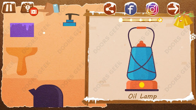 Chigiri: Paper Puzzle Christmas Pack Level 16 (Oil Lamp) Solution, Walkthrough, Cheats