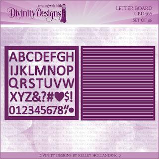 Divinity Designs Custom Letter Board Dies
